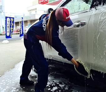 手洗い洗車(キーパーコーティング施工車)