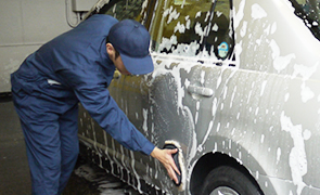 泡ムートン手洗い洗車